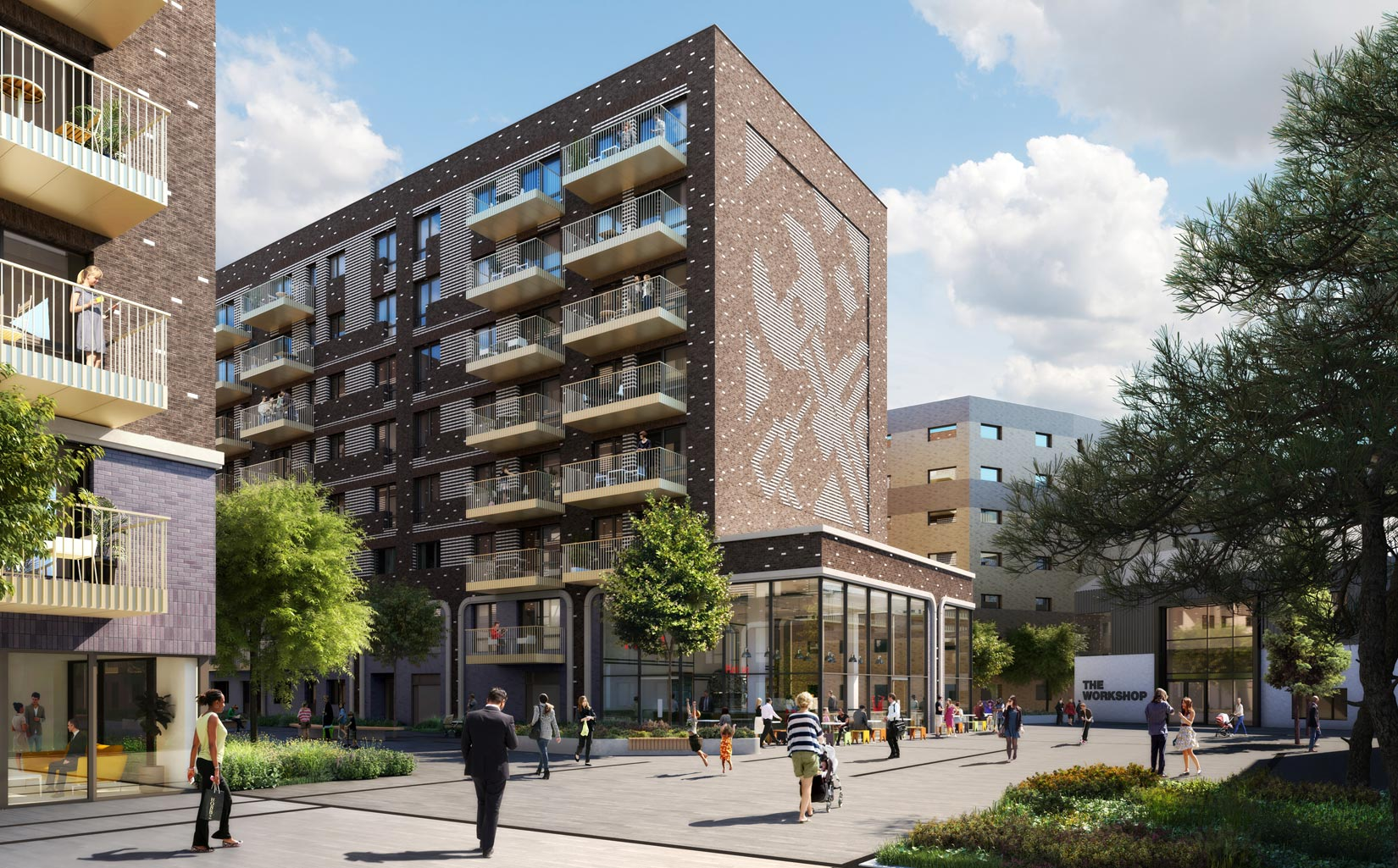 Equipment Works, Walthamstow, London, Homes, Apartments, public realm