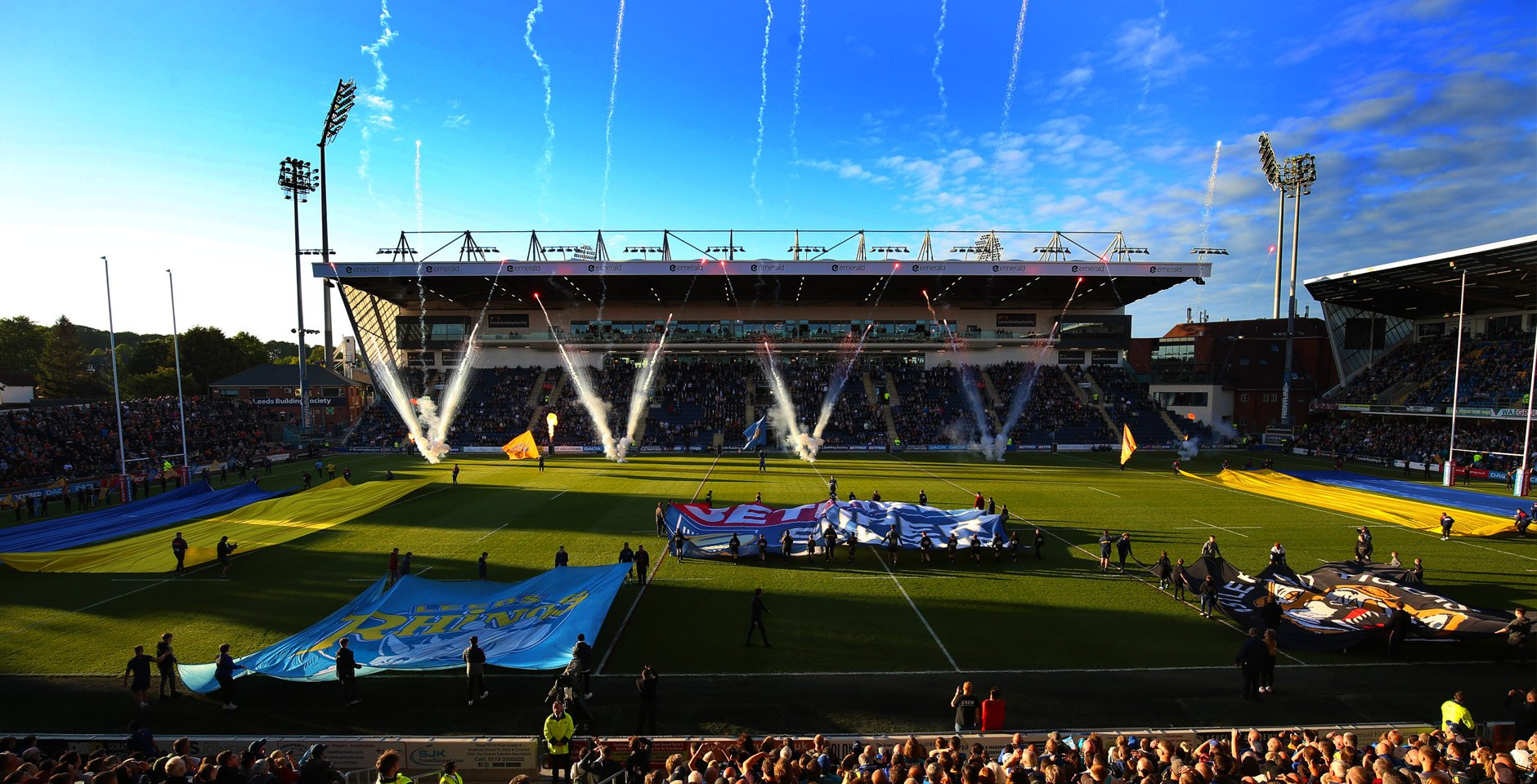 Headingley North / South Stand Rugby : Photograph by David Lindsay courtesy of Caddick Construction & Leeds Rugby