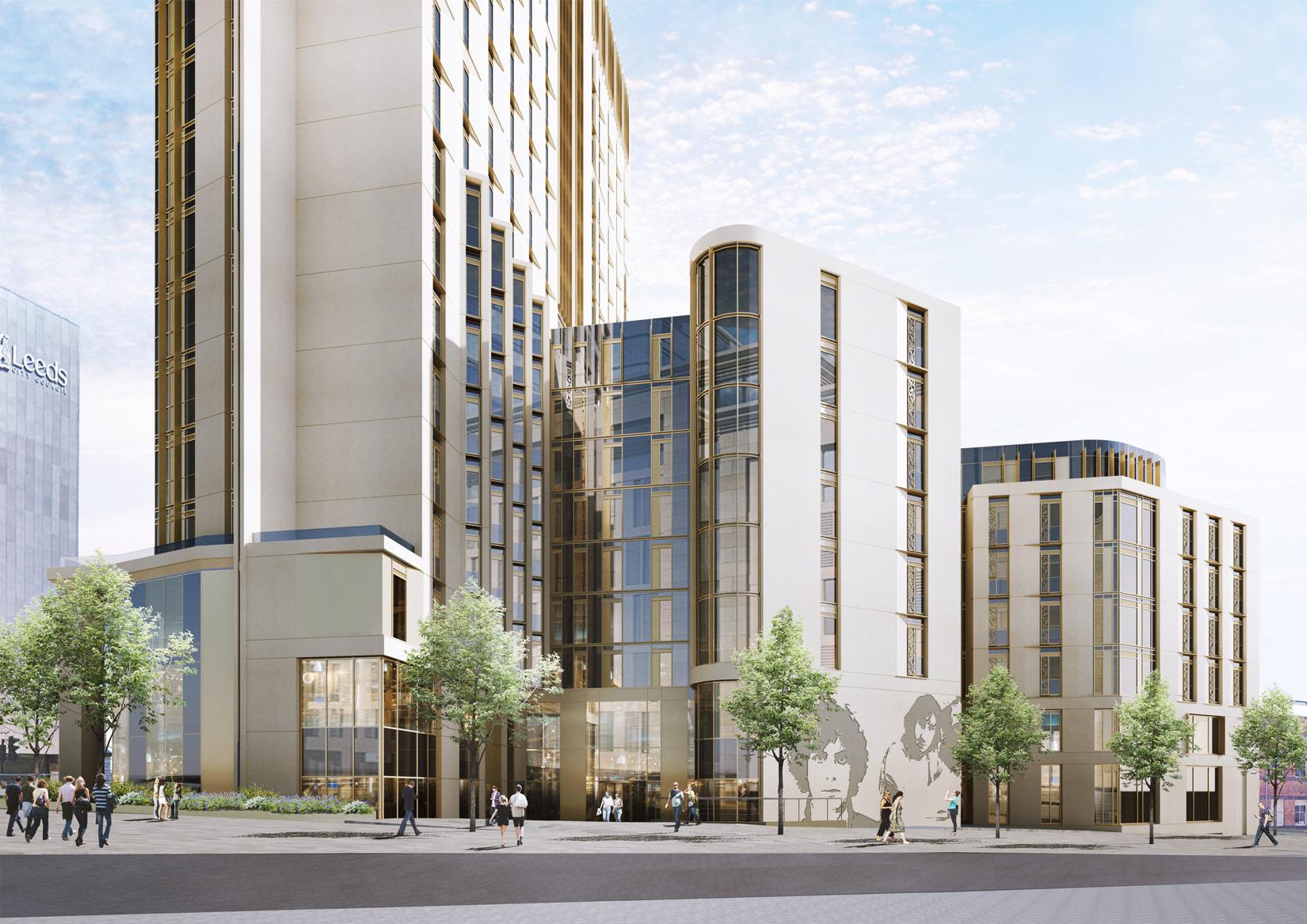 Technology Campus, Cookridge Street, Leeds, 3D Visual of the approach