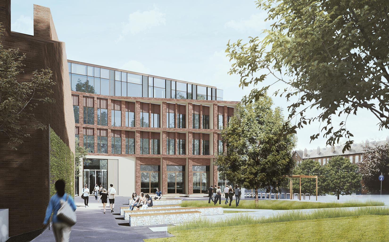 Business School, University of Leeds, 3D visual from Clarendon Road
