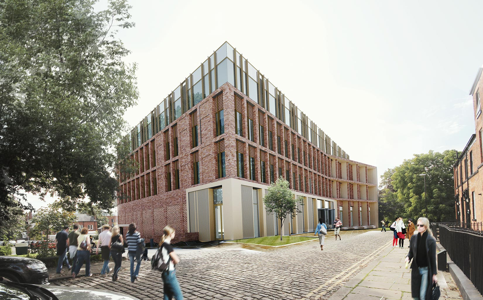 Business School, University of Leeds, , 3D visual from Lyddon Terrace