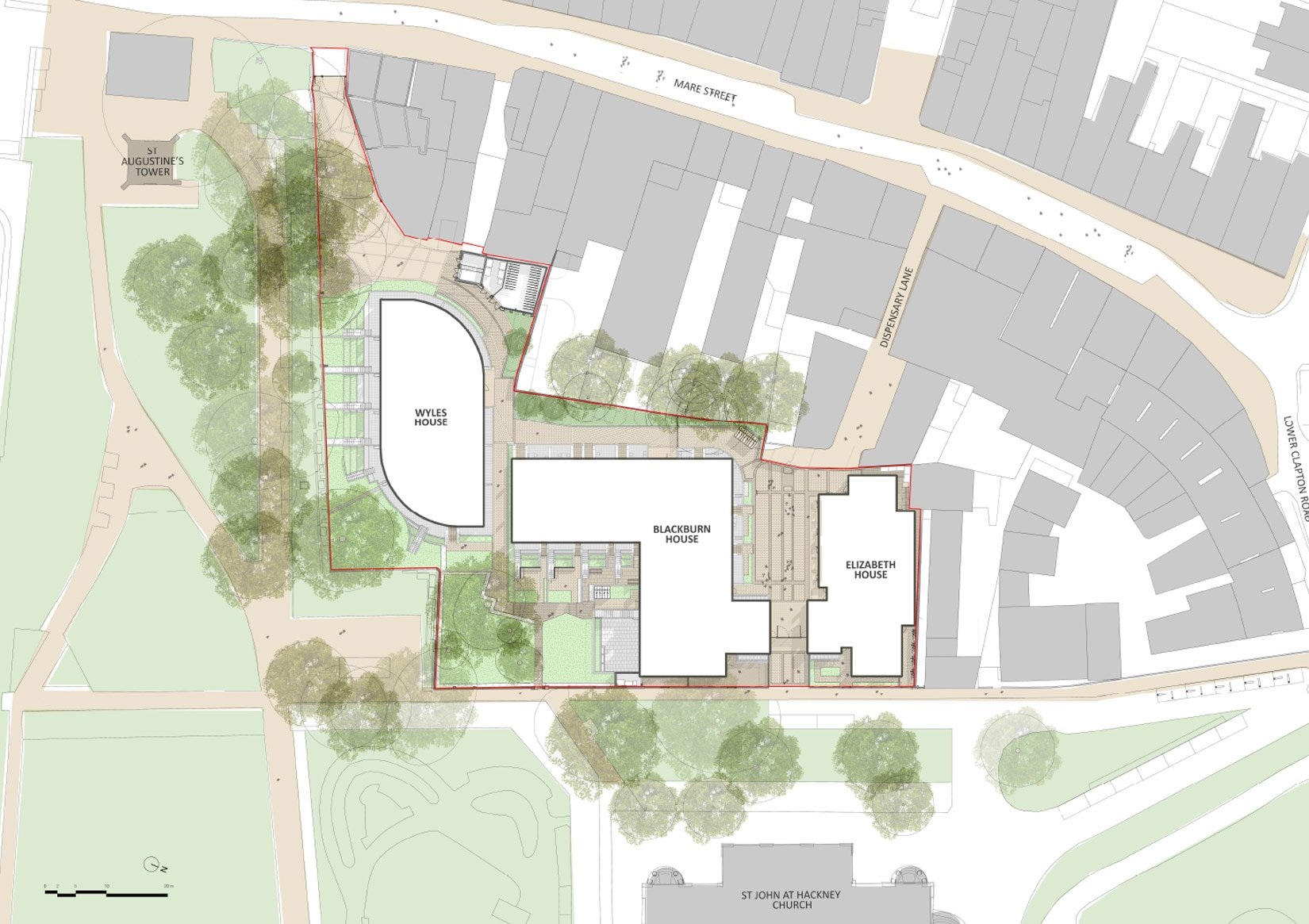 Hackney Gardens, Site Plan