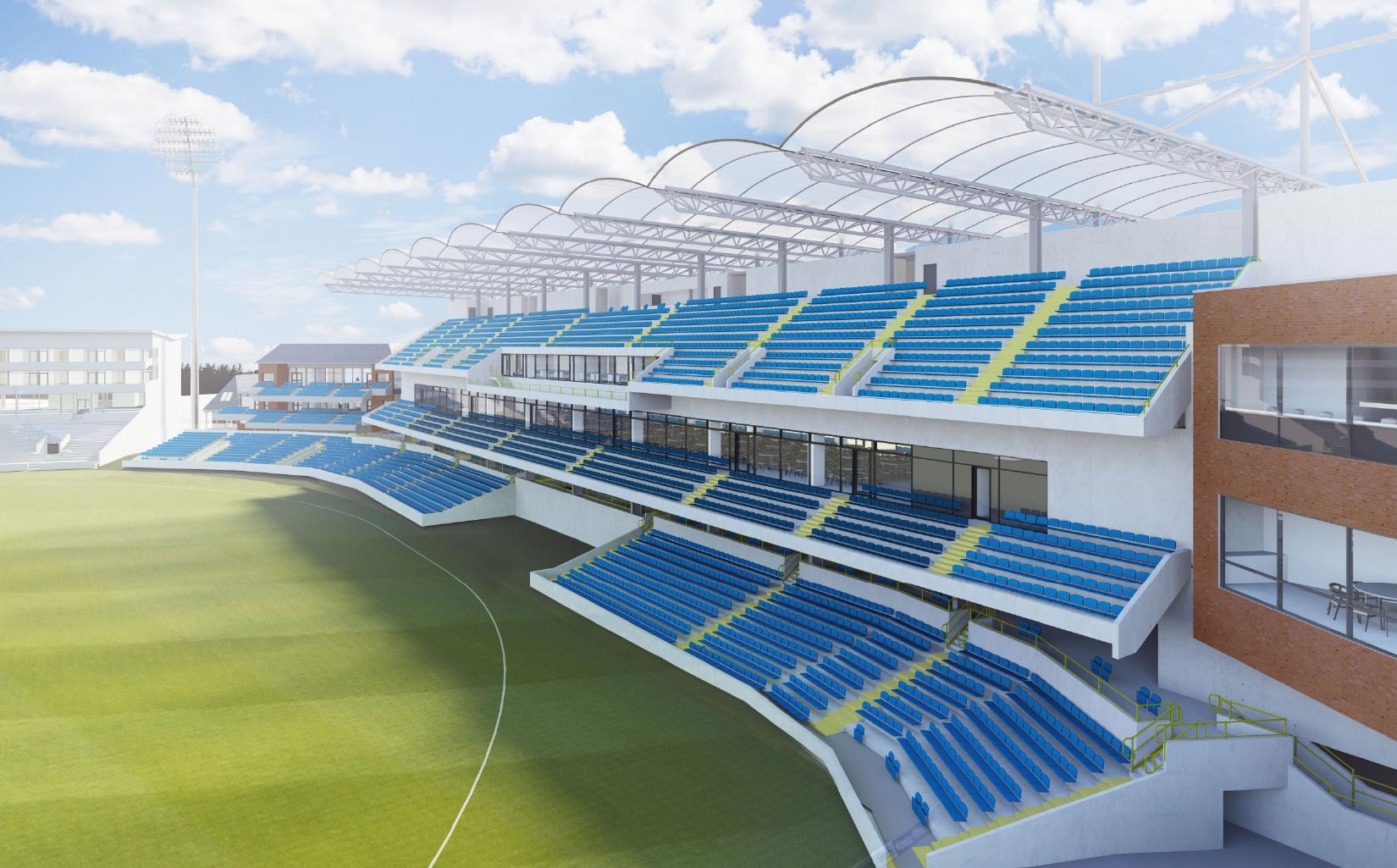 Headingley 3D Visual of North / South Stand Cricket