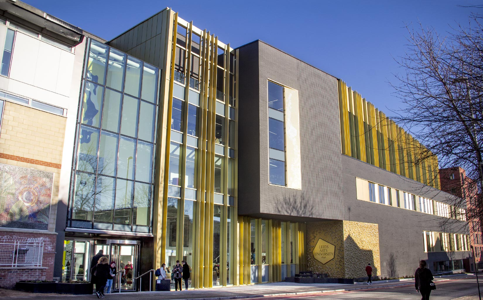 Leeds Arts University, approach to the entrance