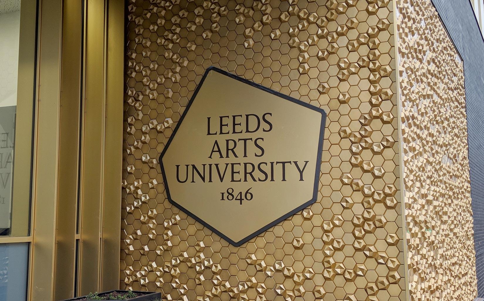 Leeds Arts University, Signage & Façade Detail