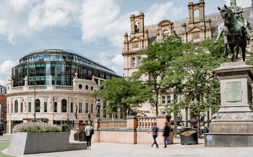 The Majestic, Leeds, View from City Square, Photography by Stevie Campbell