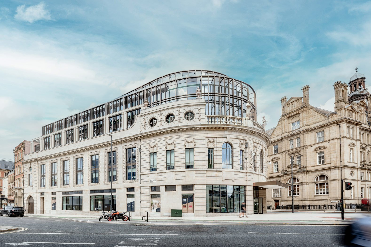 The Majestic, Leeds, View from railway station entrance, Photography by Stevie Campbell