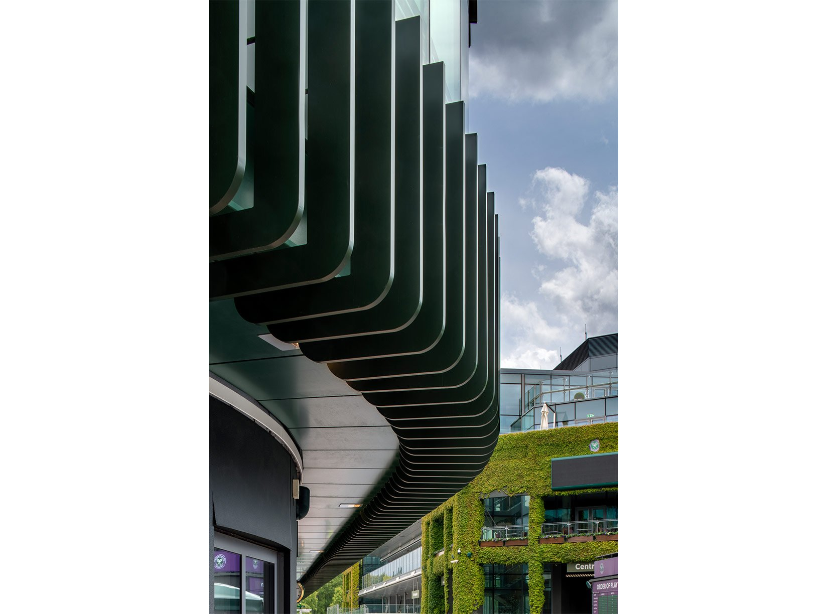 The Museum Building, AELTC, Wimbledon, Façade : Photograph by Tony MacLean, Image Works (London) Ltd