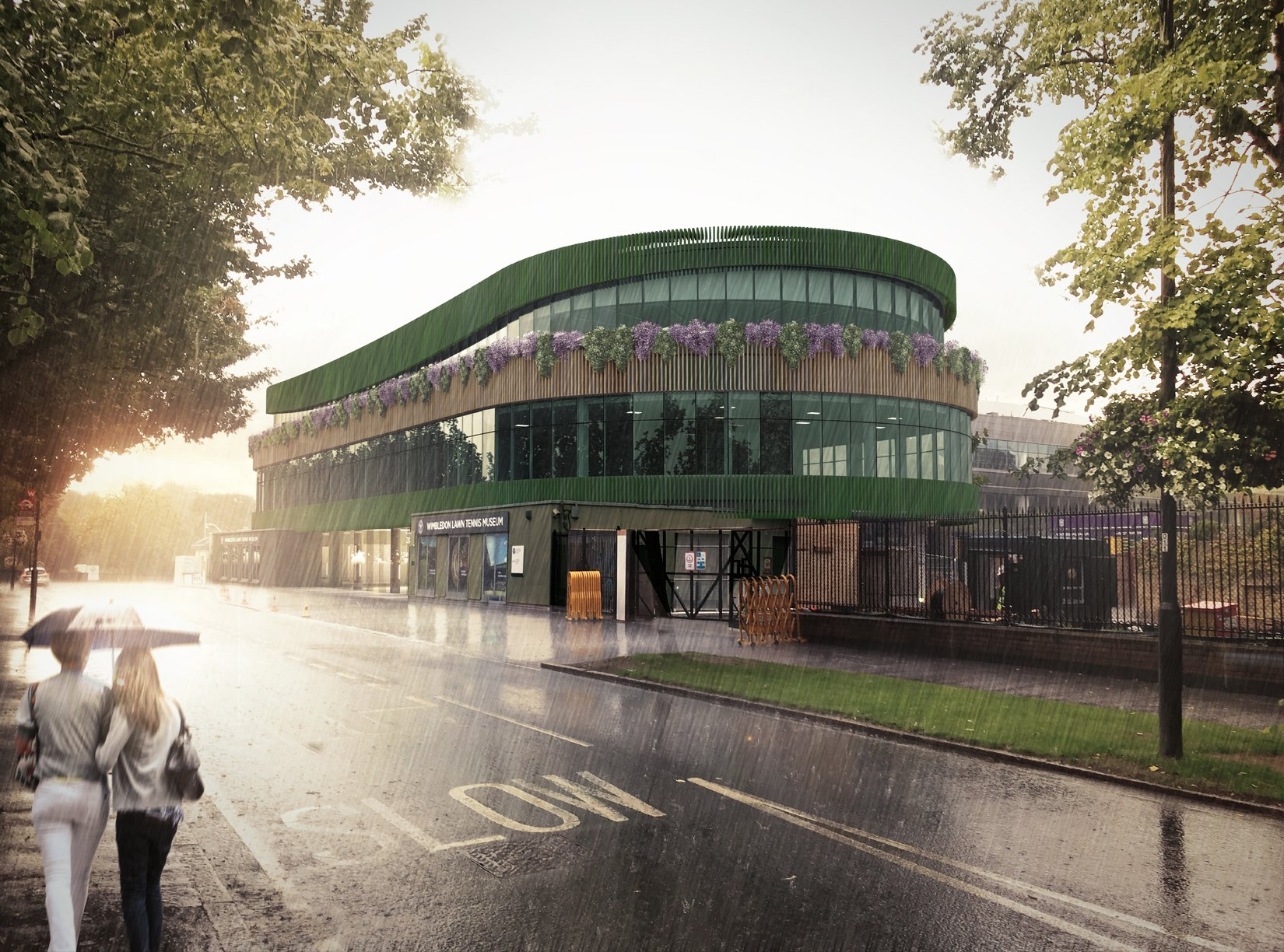The Museum Building, AELTC, Wimbledon, 3D visual