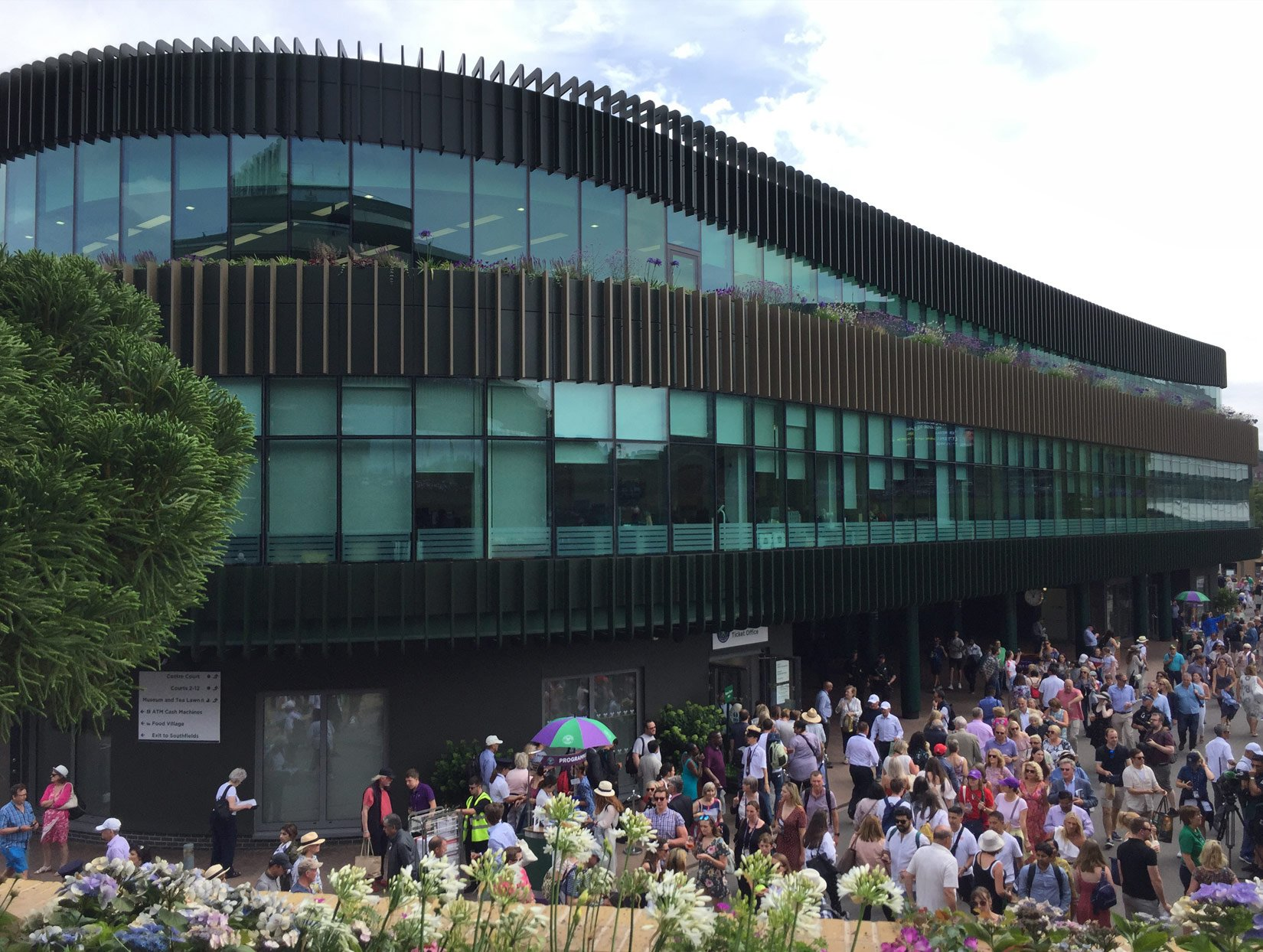 The Museum Building, AELTC, Wimbledon, During the championship