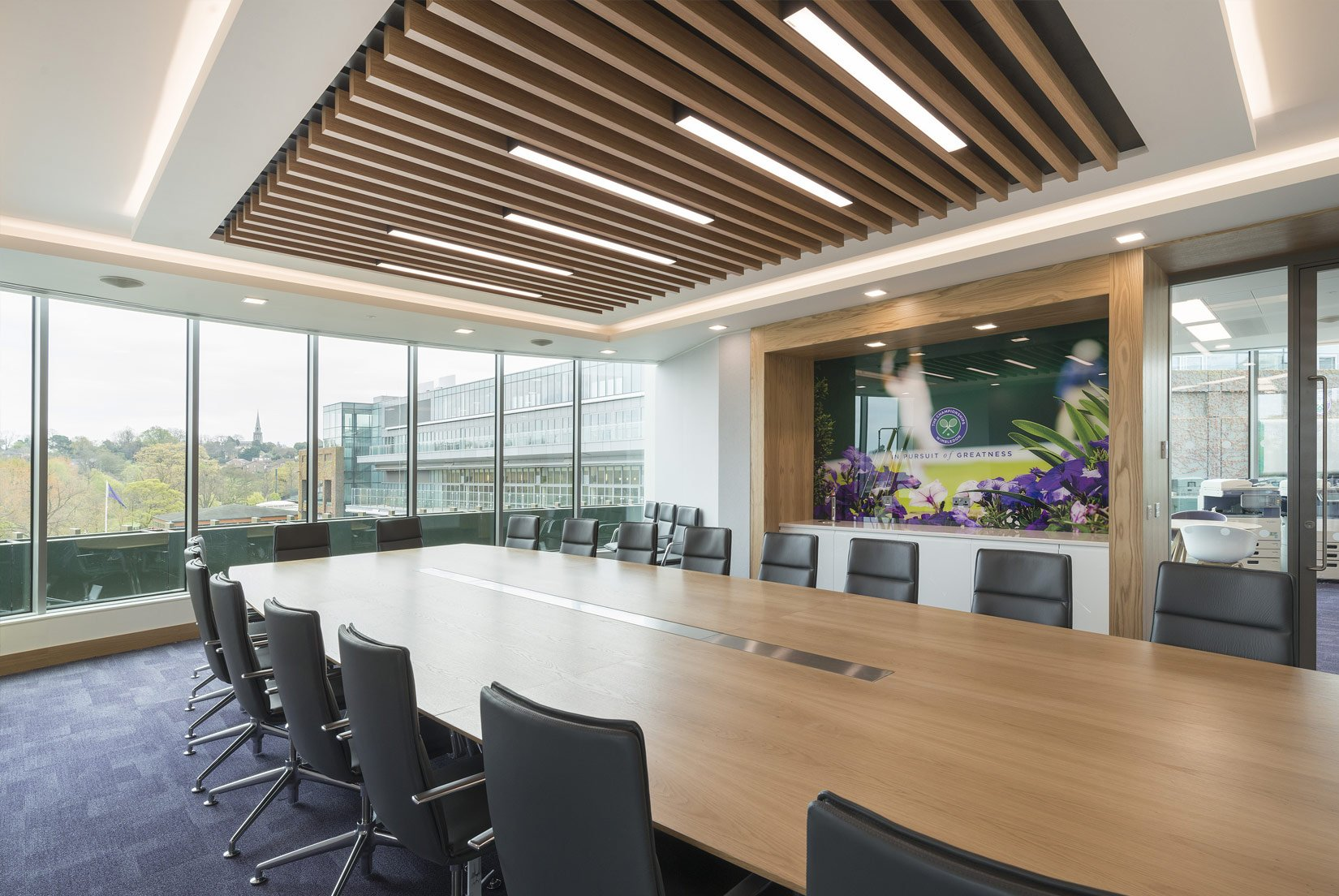 The Museum Building, AELTC, Wimbledon, meeting room : Photograph by Tony MacLean, Image Works (London) Ltd