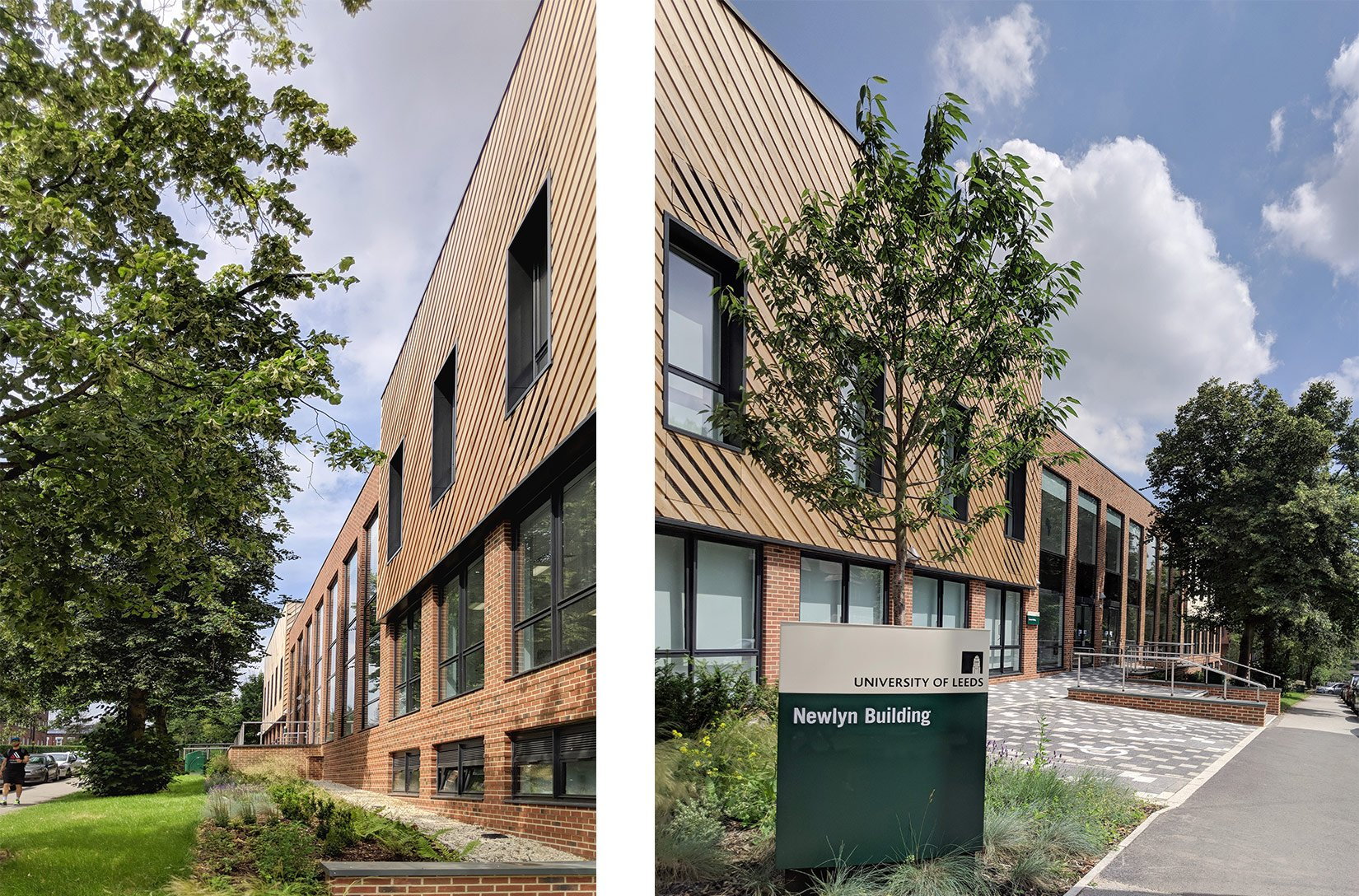 Newlyn Building, University of Leeds, Landscaping and signage