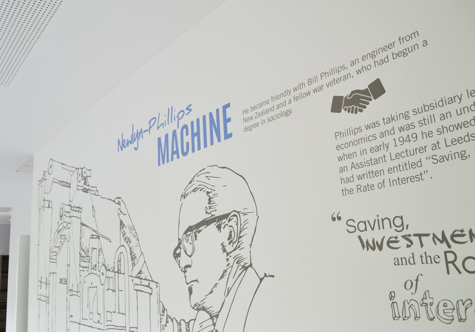 Newlyn Building, University of Leeds, Professor Walter Newlyn and the machine