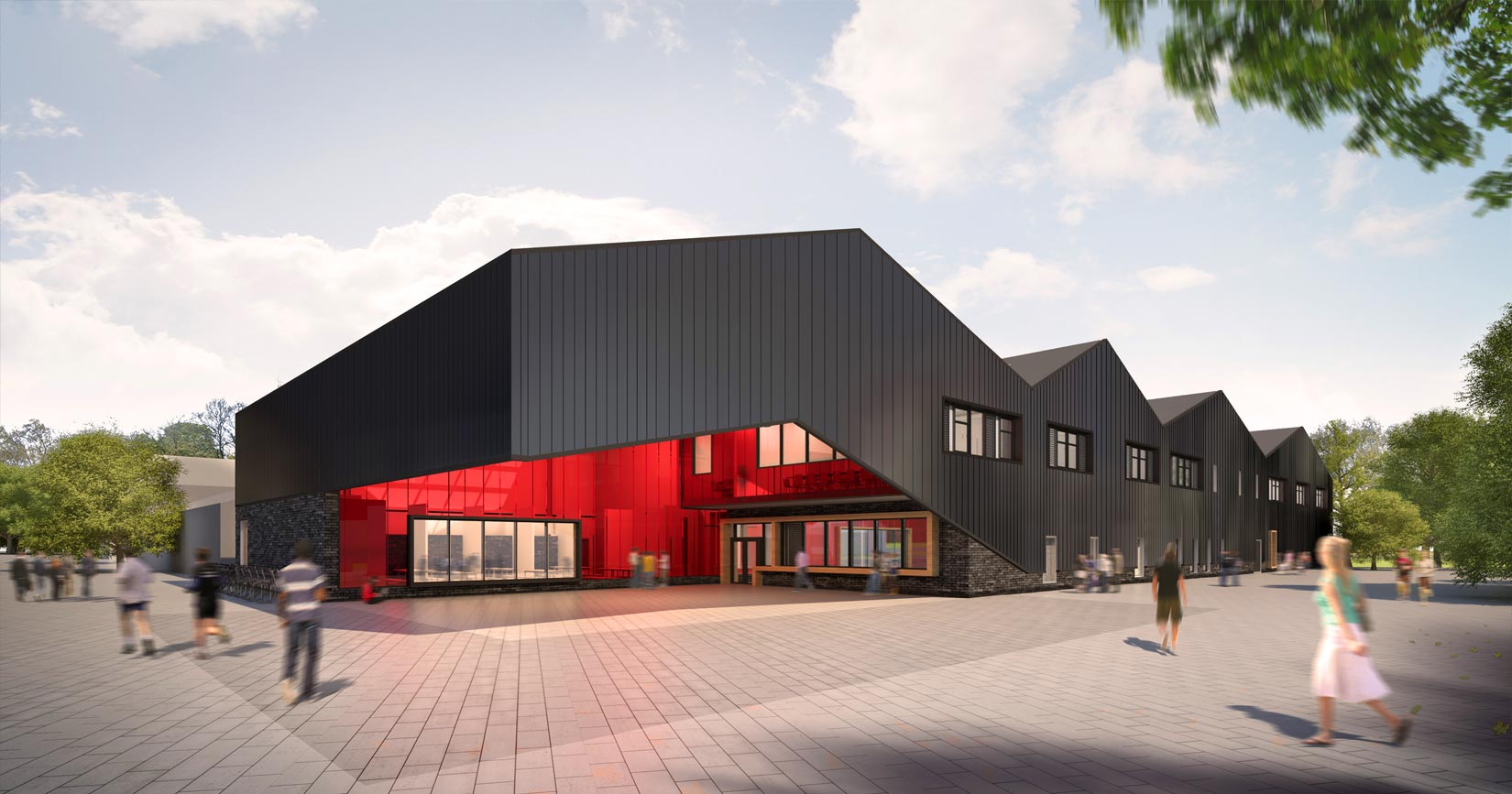 Oaklands College, 3D visual of the Construction and Engineering Building
