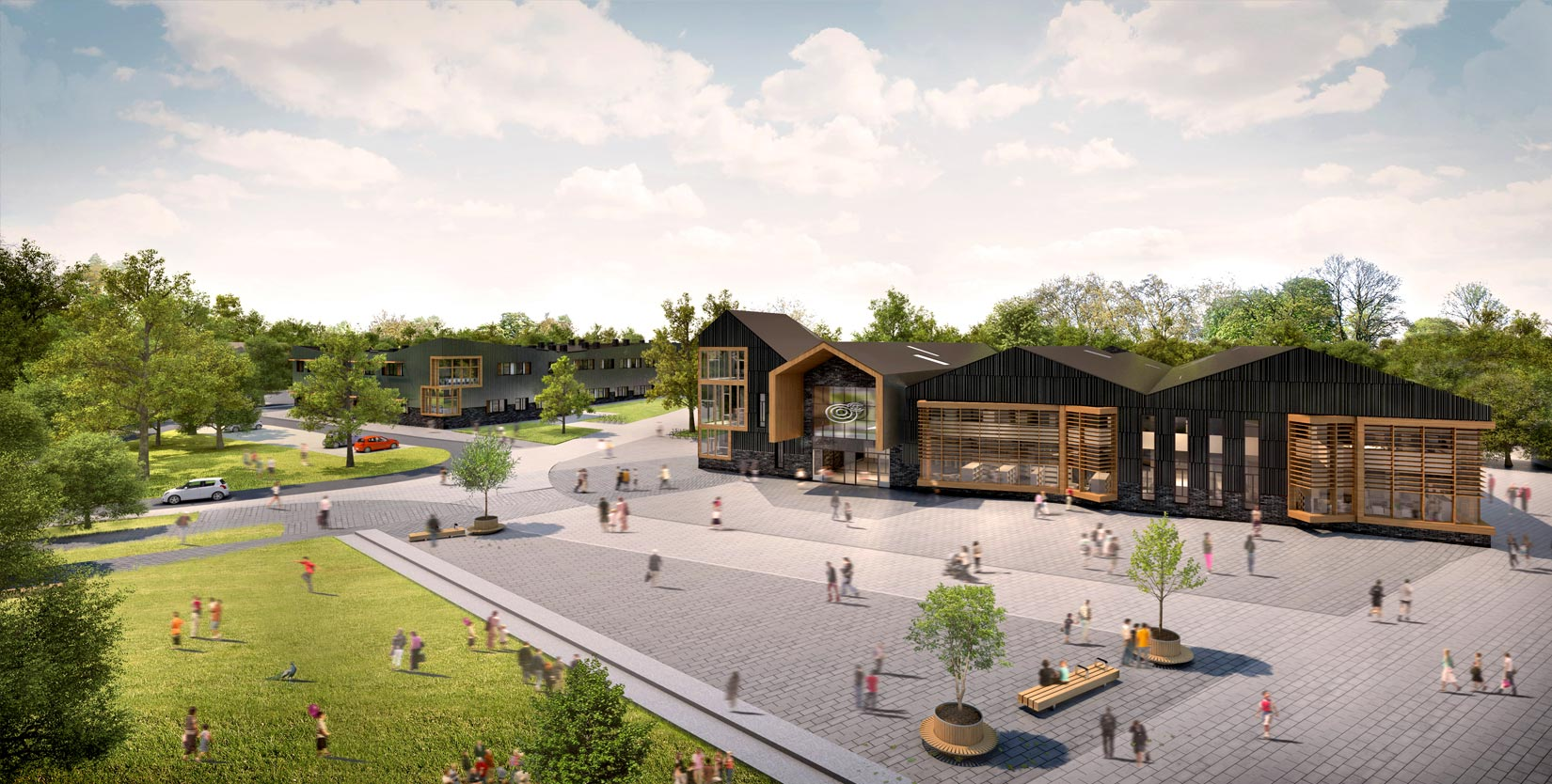 Oaklands College, 3D visual of the Gateway Building