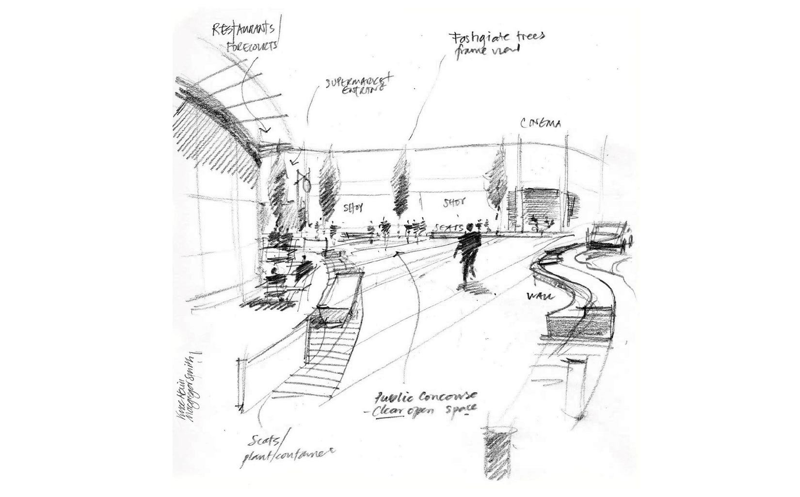 South Ruislip, London, Concept Sketch Interior