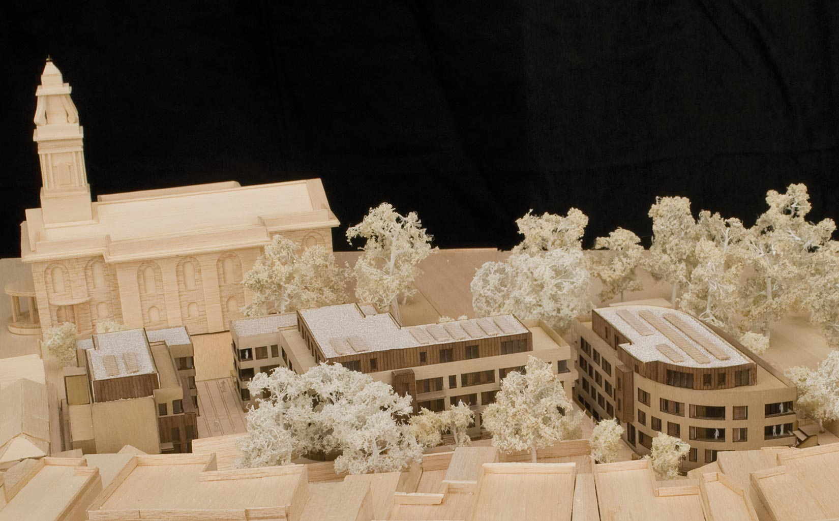 St John's Gardens, Hackney, London, Proposed site model used as a working design tool and displayed at the public consultation event
