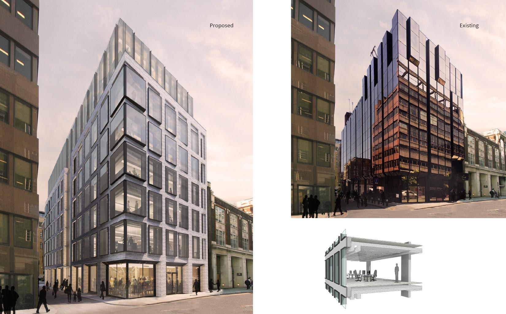 182 High Holborn, Covent Garden, London, Existing & Proposed