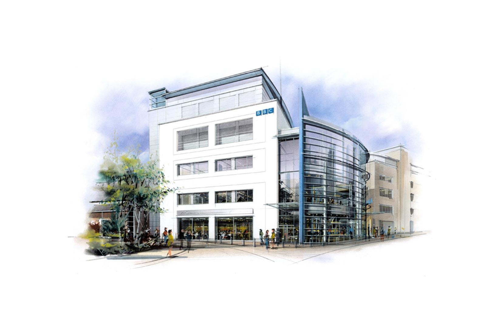 BBC Building, Leeds, Sketch Concept