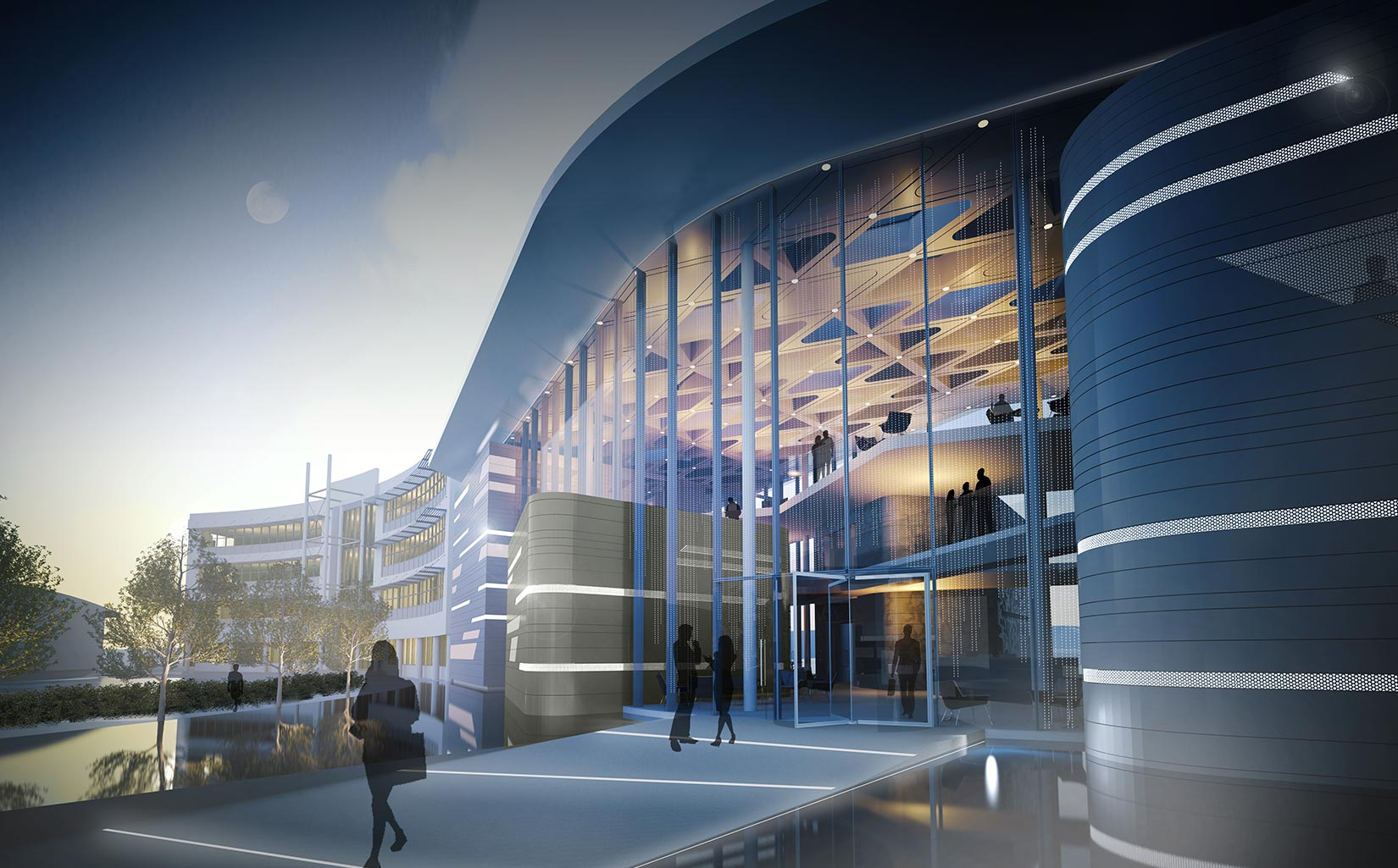 B. Braun Innovation, Communication & Education Centre, Sheffield, 3D Visual of the entrance