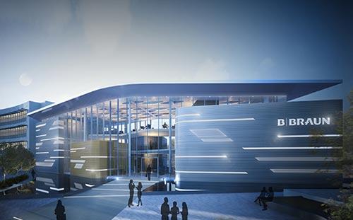 B. Braun Innovation, Communication & Education Centre, Sheffield, 3D Visual Dusk