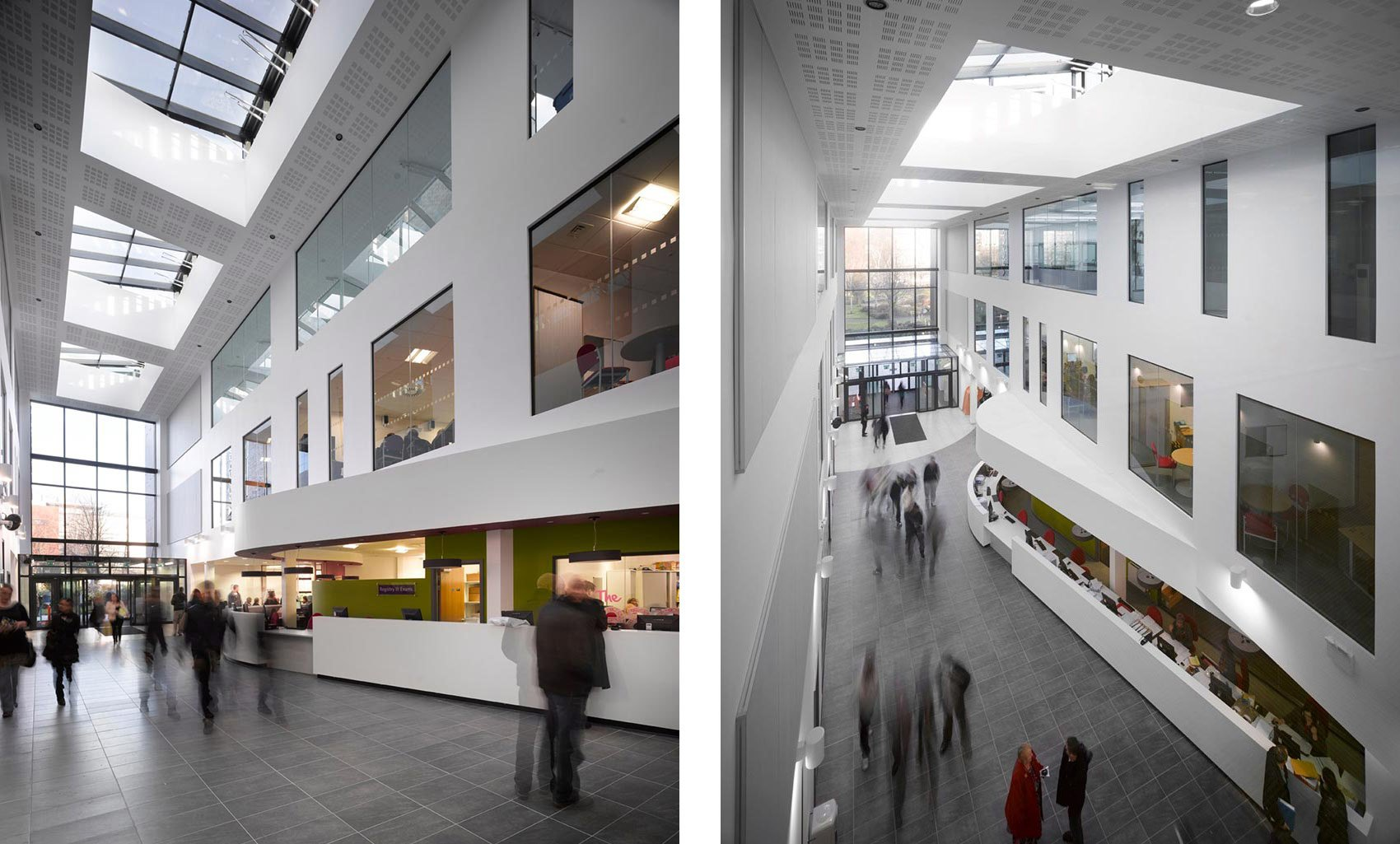 Beacon Centre, Blackburn College, Atrium and Reception Space