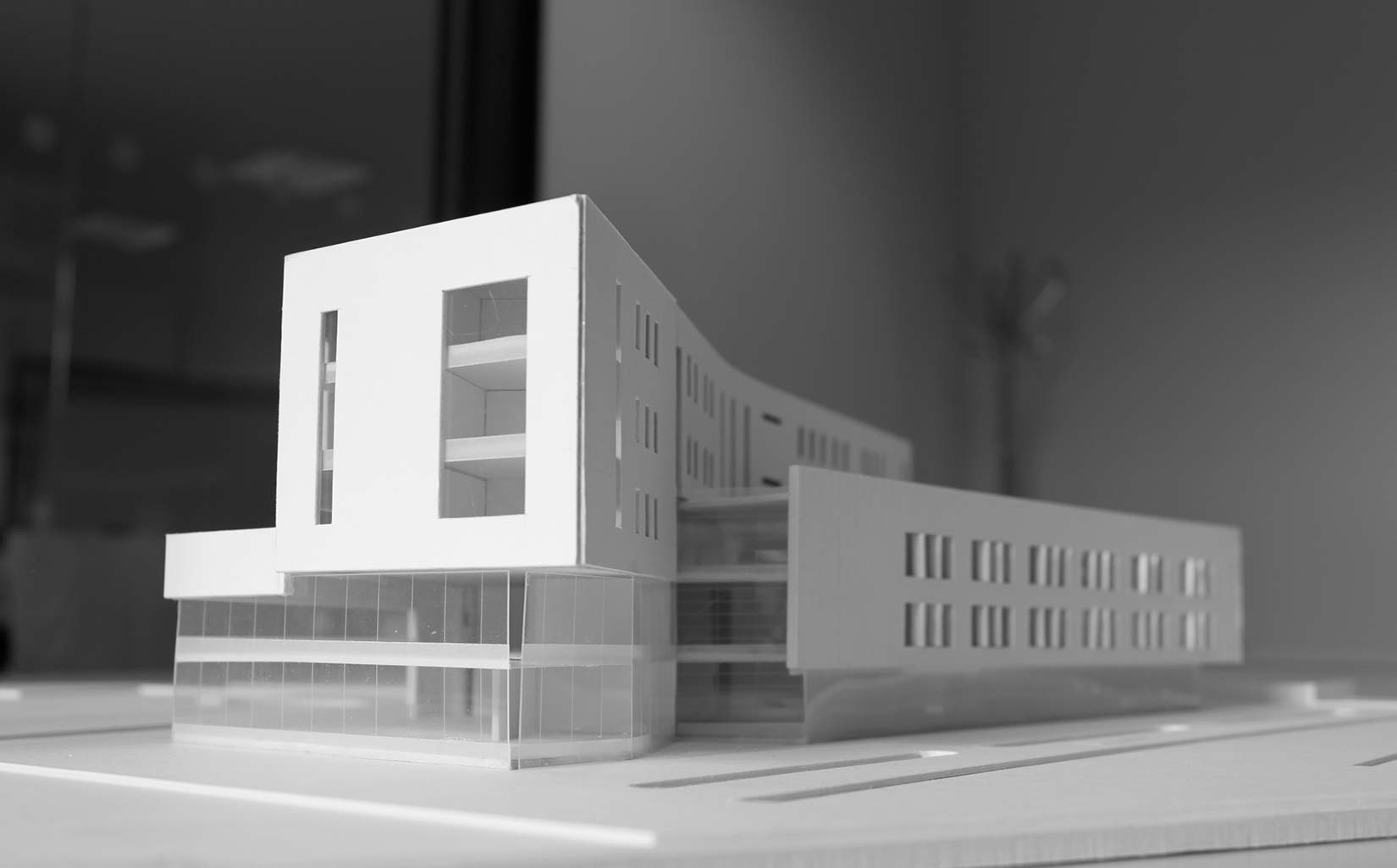Beacon Centre, Blackburn College, Concept Model massing