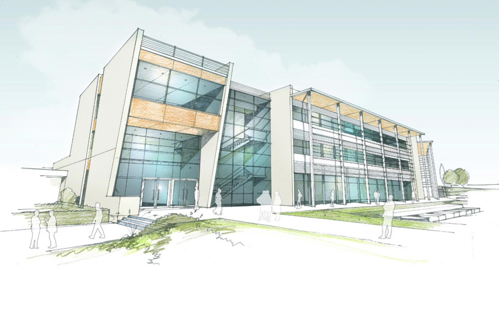 Blackpool Sixth Form College, concept sketch