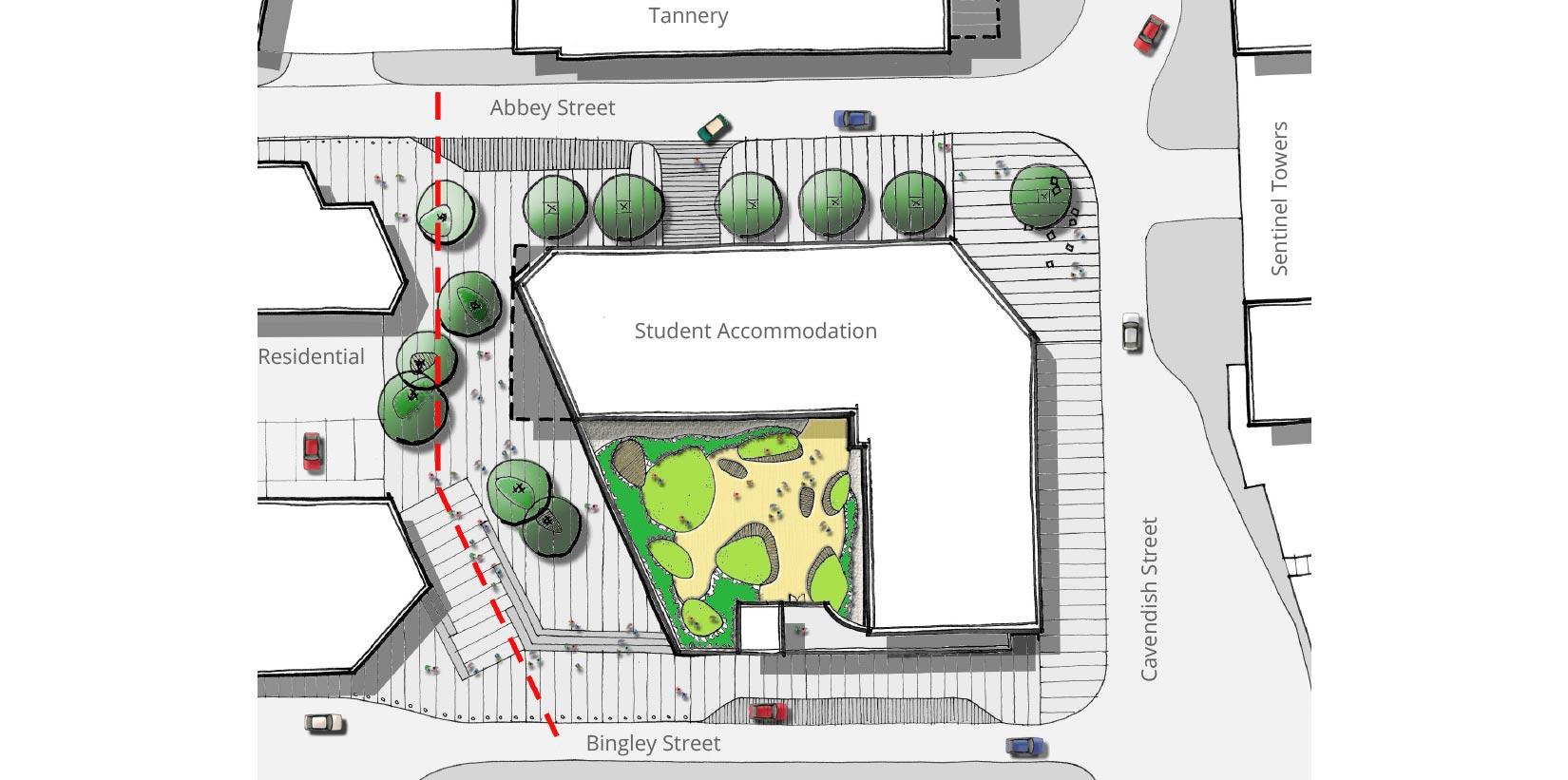The Foundry , Cavendish Street, Leeds, Site Plan