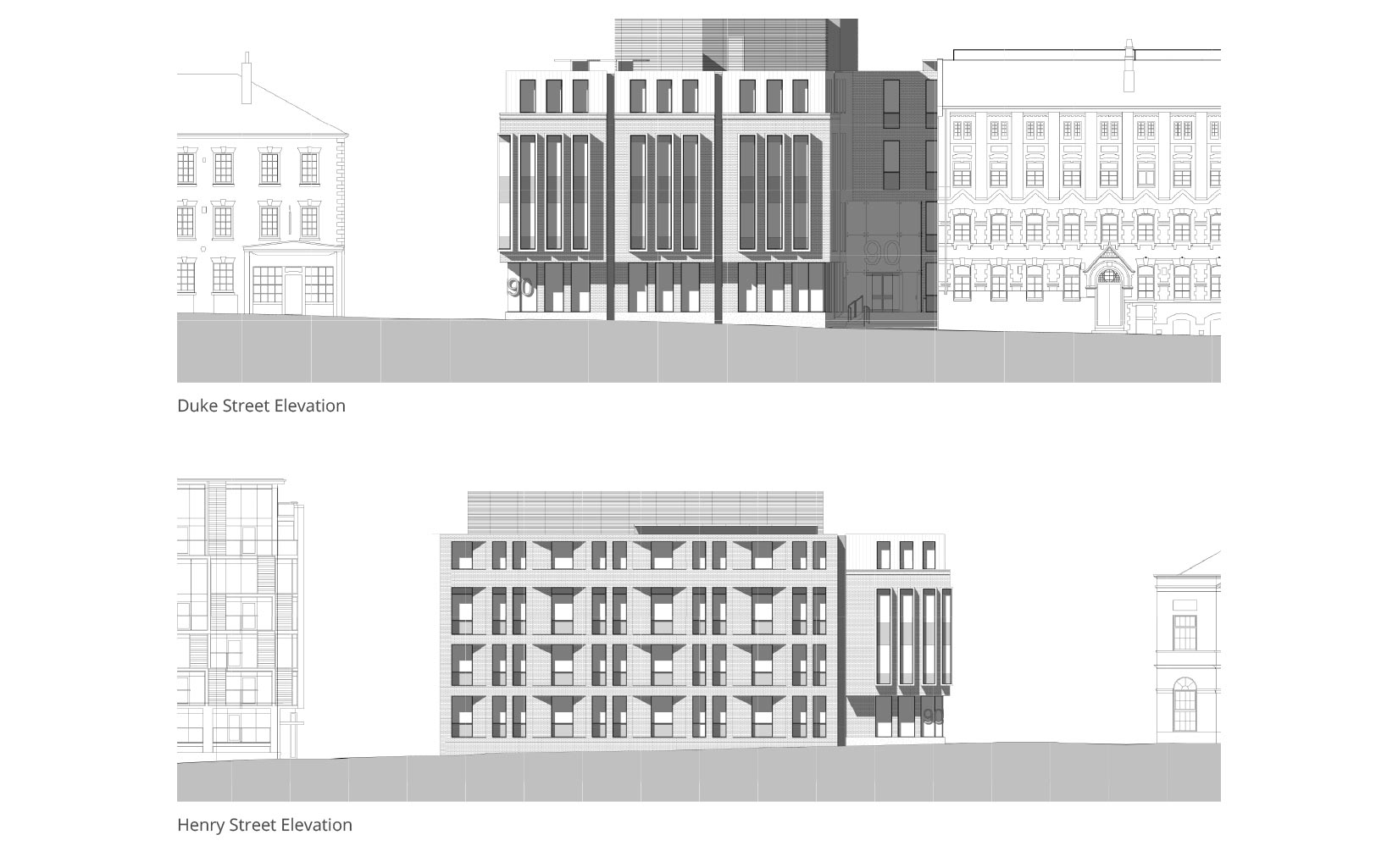 Duke Street, Liverpool, Elevations