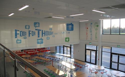 Hessle High School, canteen wall graphics