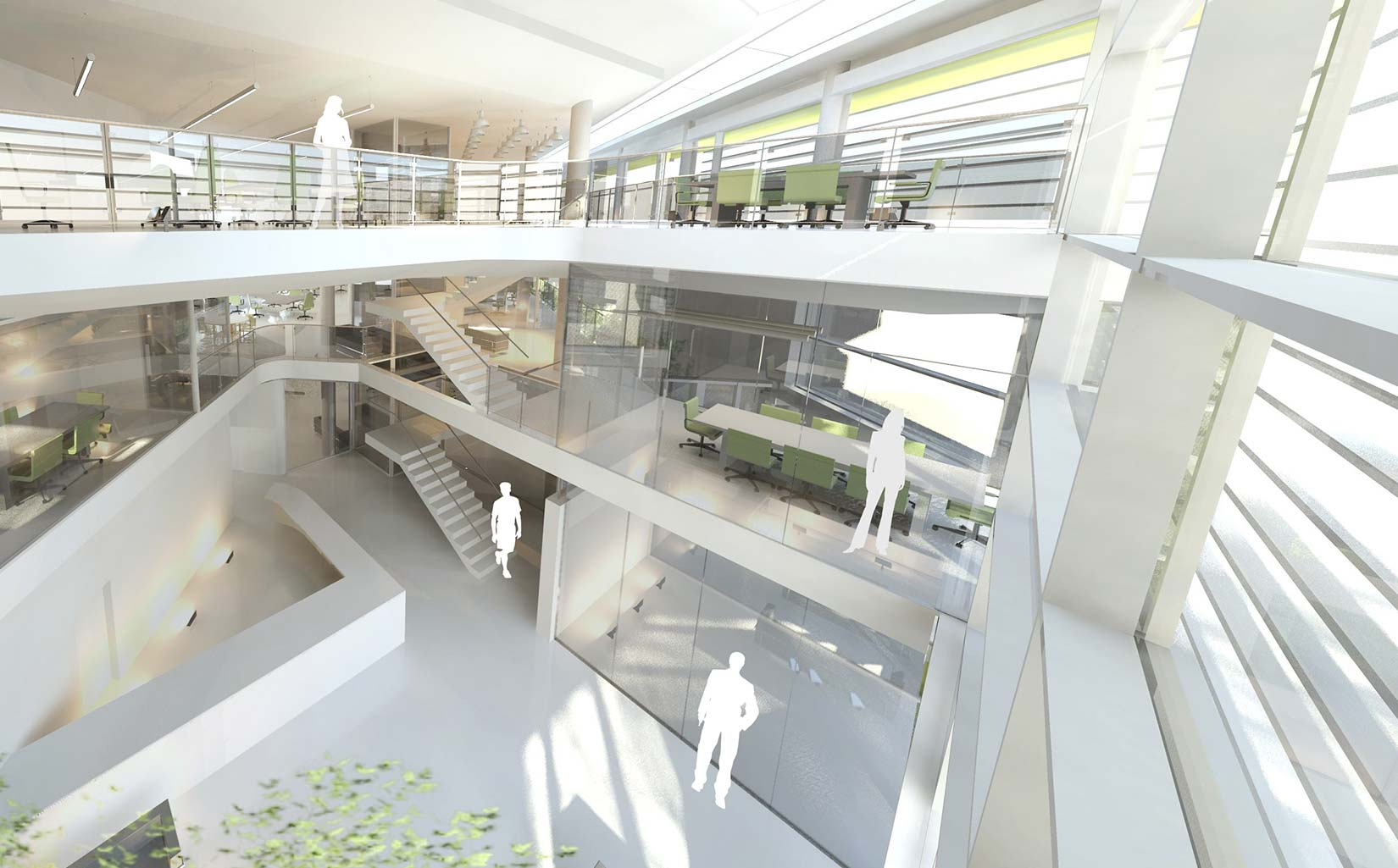 Nestlé Product Technology Centre, 3D Visual of Interior