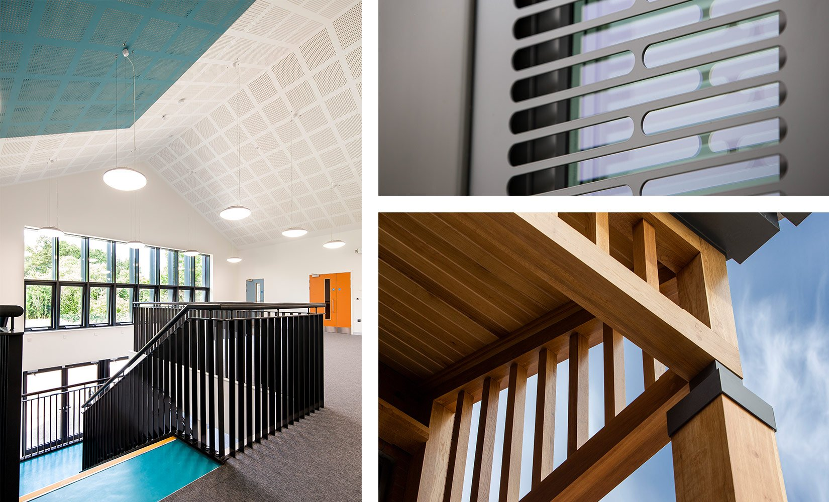 Oaklands College, Homestead, St Albans, Interior core and material details