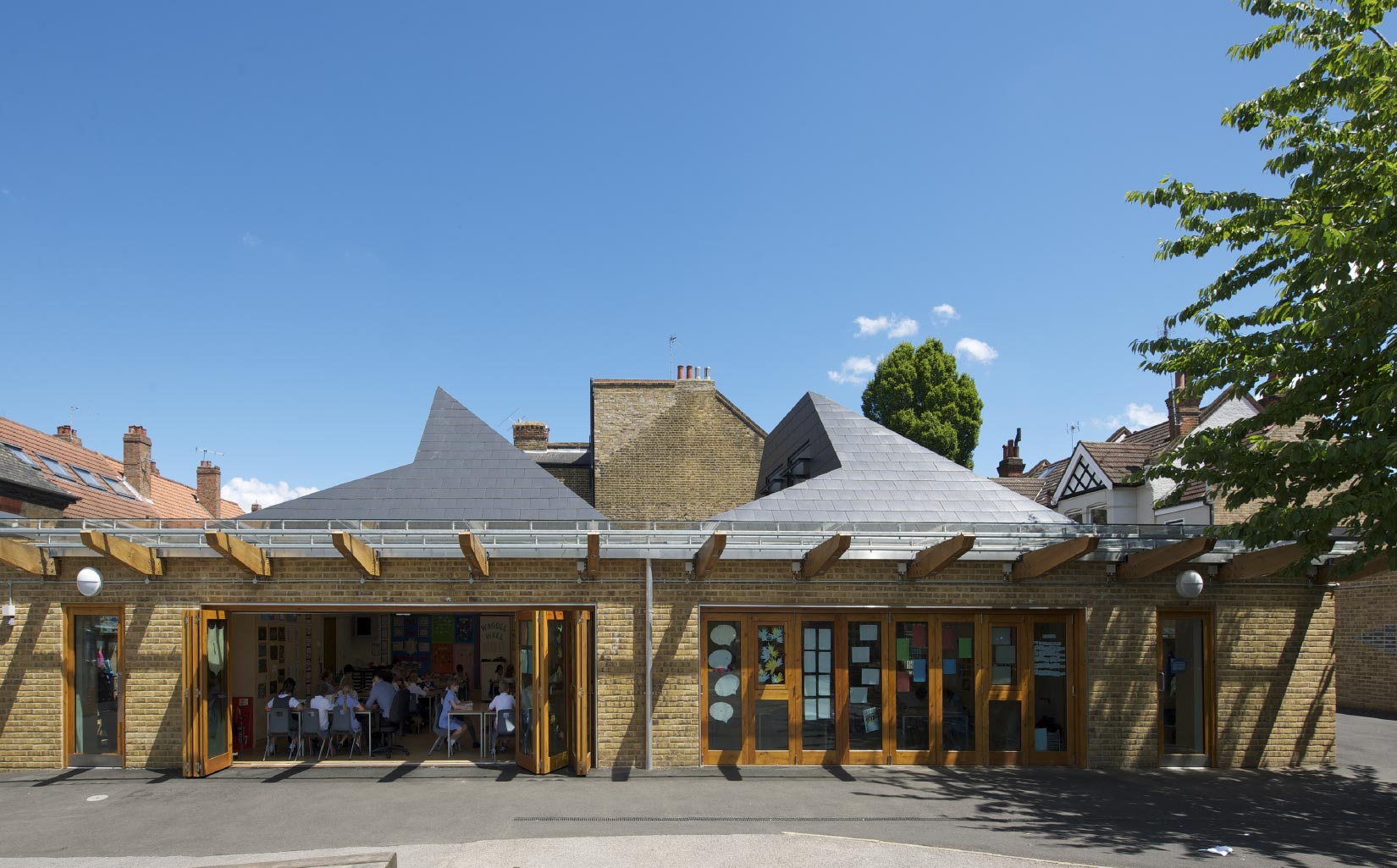 Orleans School, Twickenham, London, Elevation View