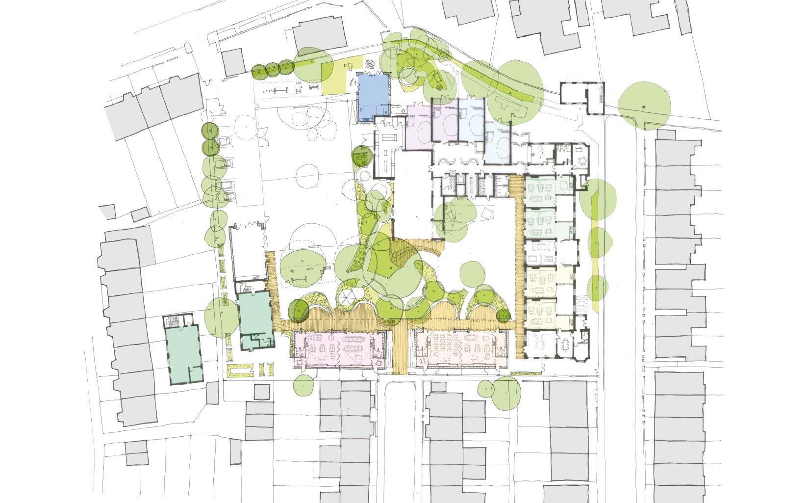Orleans School, Twickenham, London, Plan