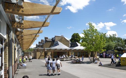 Orleans School, Twickenham, London, playground