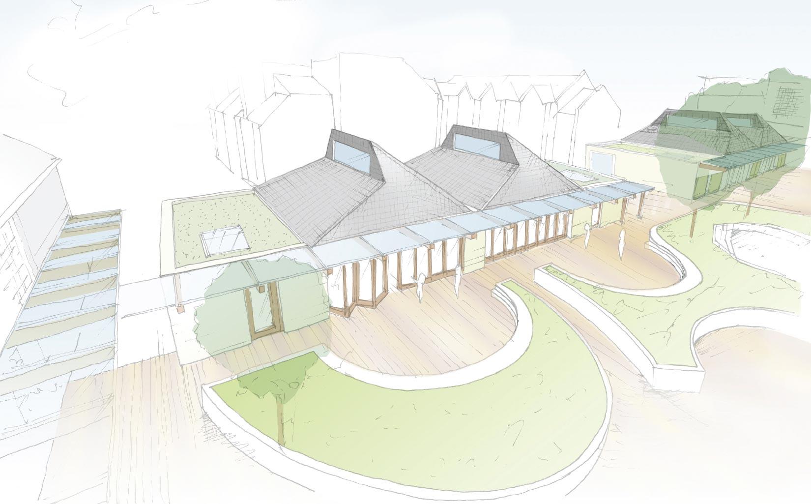 Orleans School, Twickenham, London, Sketch Concept