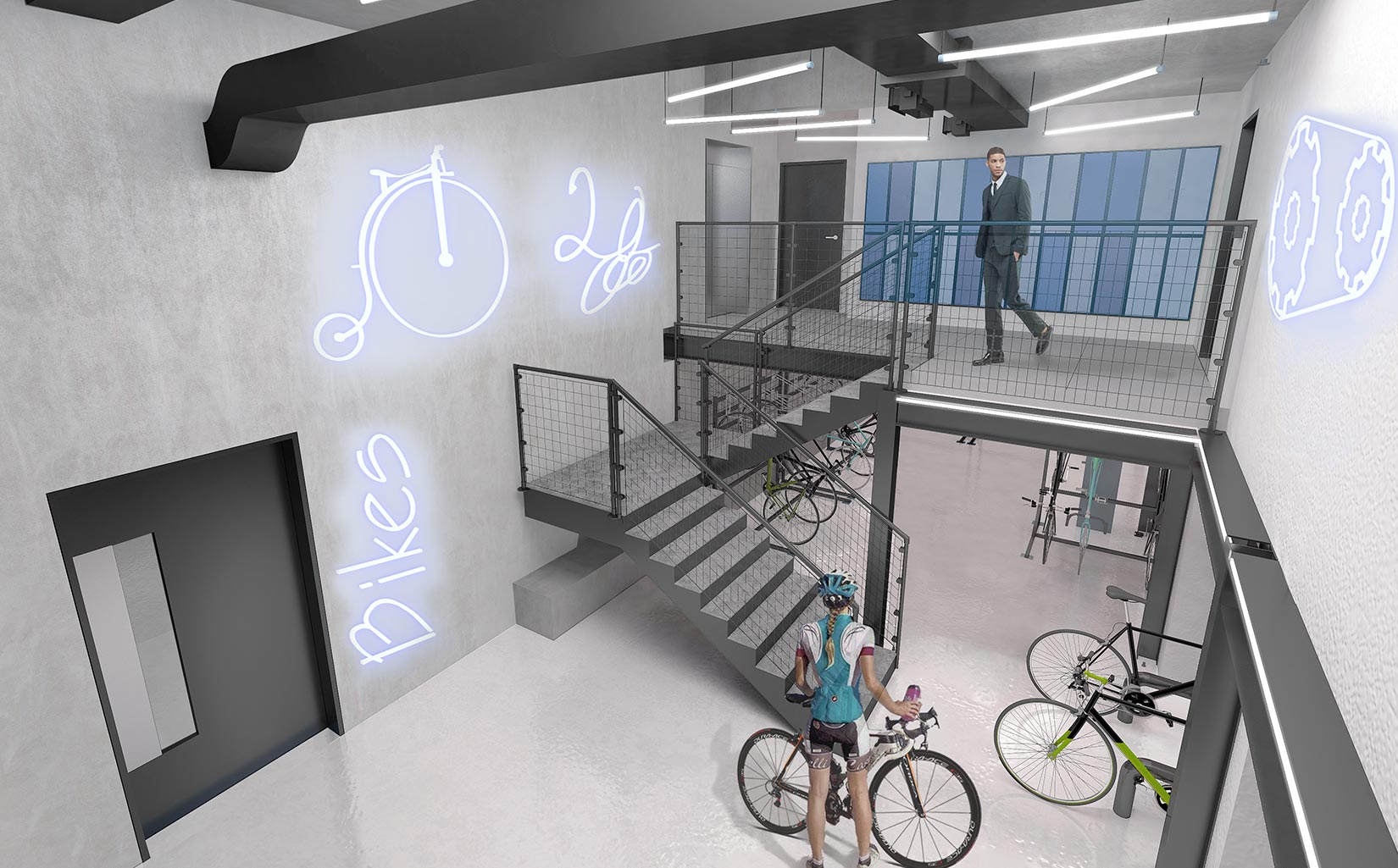 20 Saint Andrews House, Holburn, London, 3D Visual of Bike Store