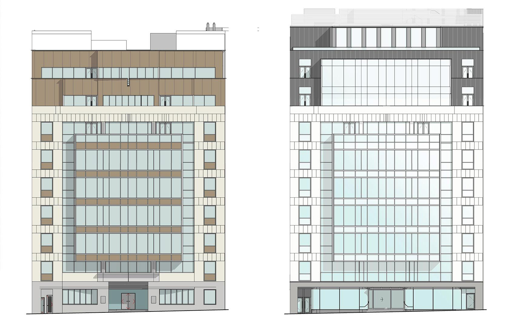 20 Saint Andrews House, Holburn, London, Existing and Proposed Elevation