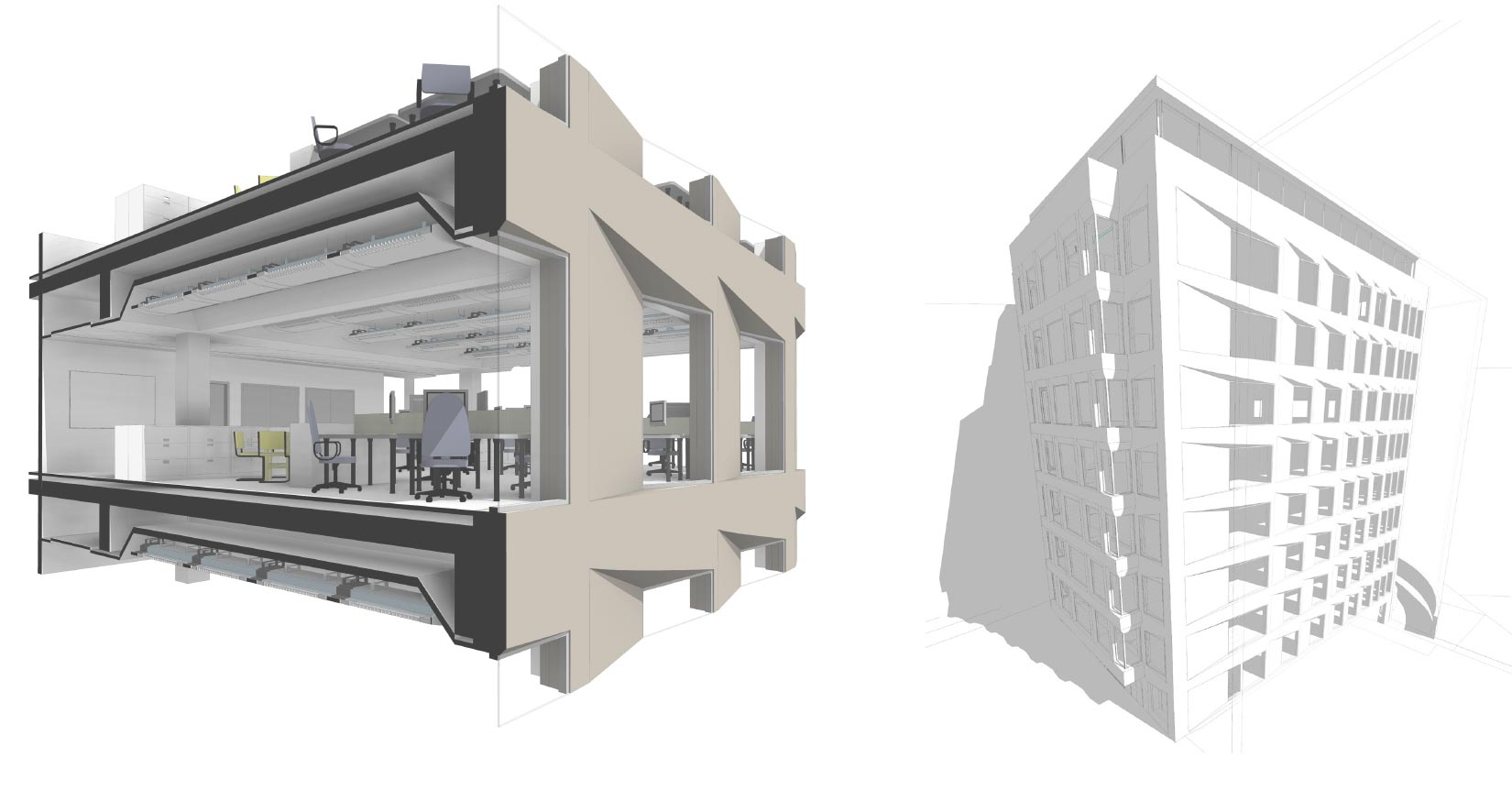 20 Saint Andrews House, Holburn, London, BIM Sections