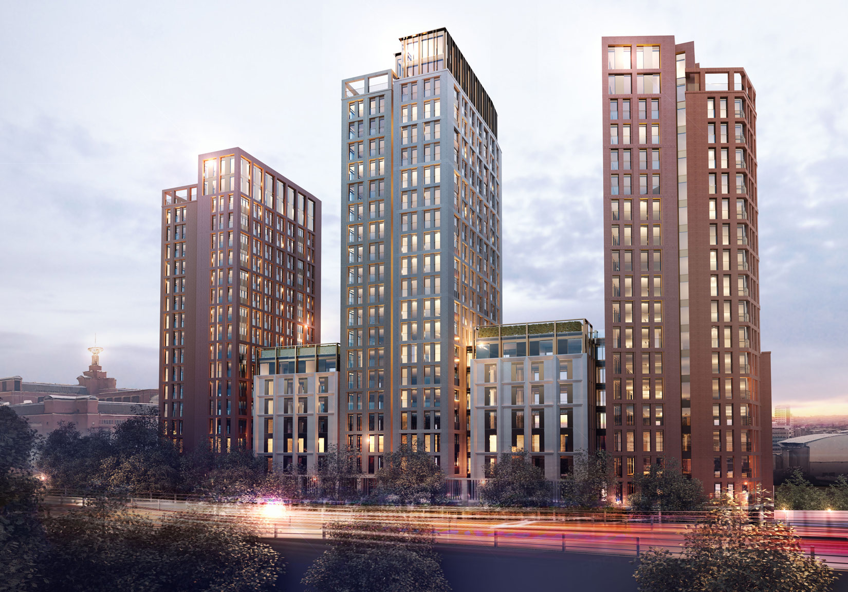 St Cecilia Place, Quarry Hill, Leeds, 3D Visual Night time