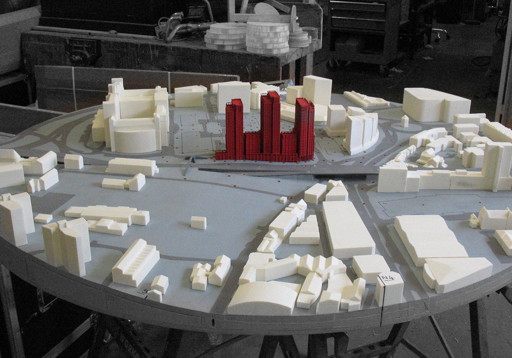 St Cecilia Place, Quarry Hill, Leeds, Massing Model Context