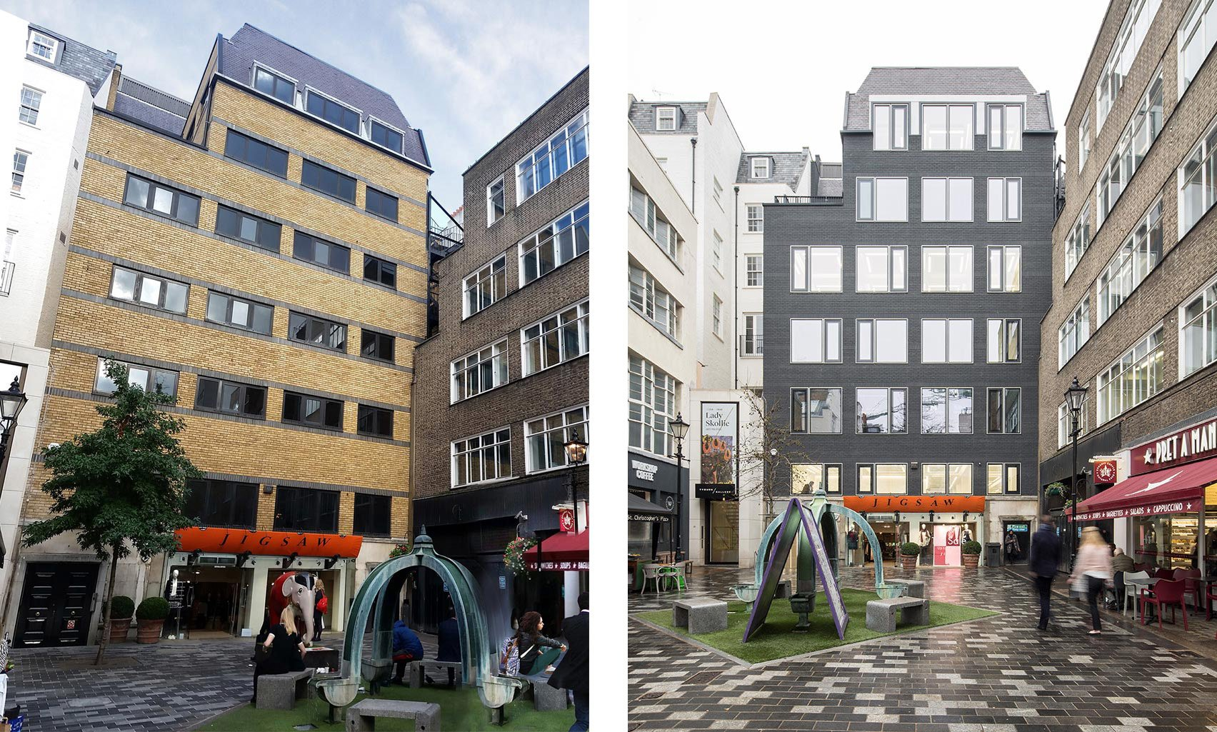 Stratford Place, Mayfair London, Before & After