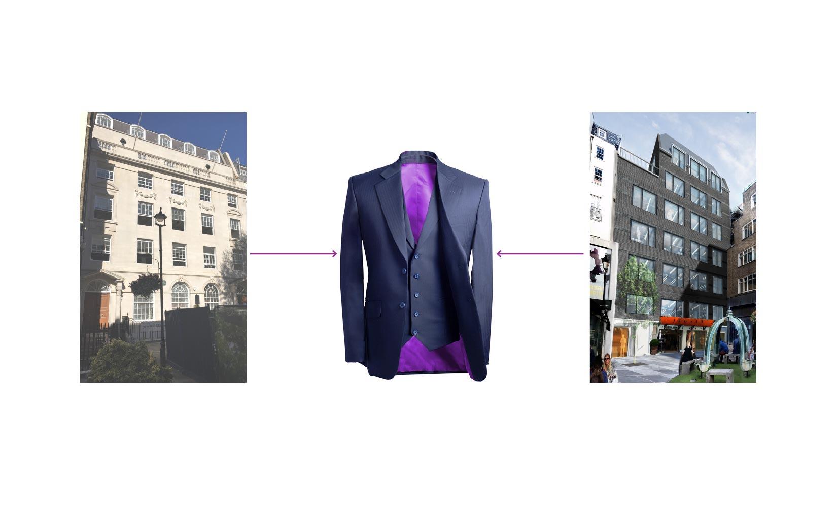 Stratford Place, Mayfair London, Concept diagram