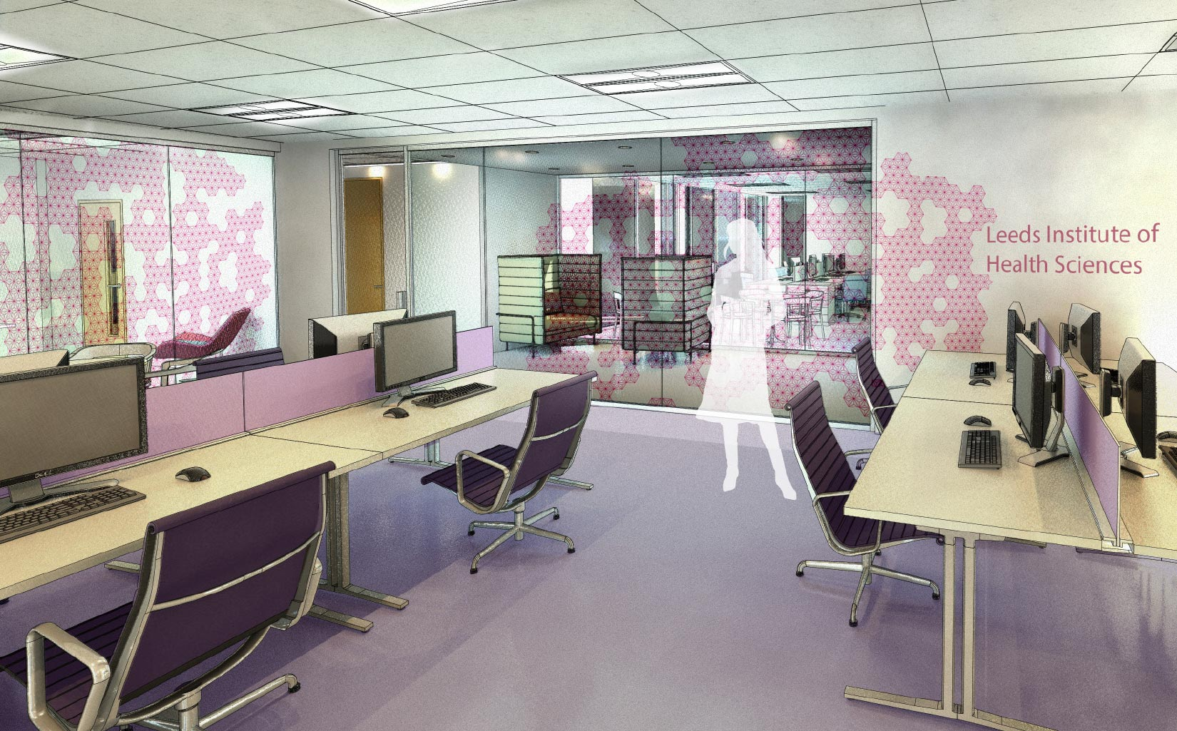 Worsley Building, University of Leeds, Concept Visual teaching space