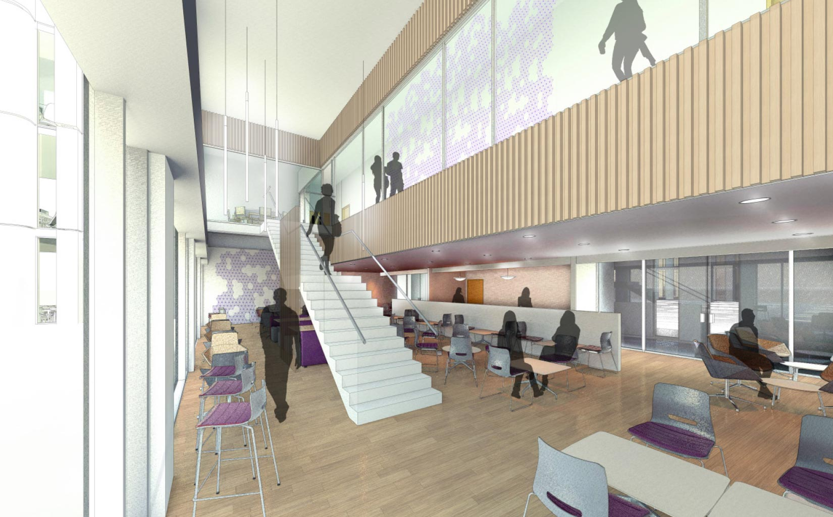 Worsley Building, University of Leeds, Concept Visual breakout space