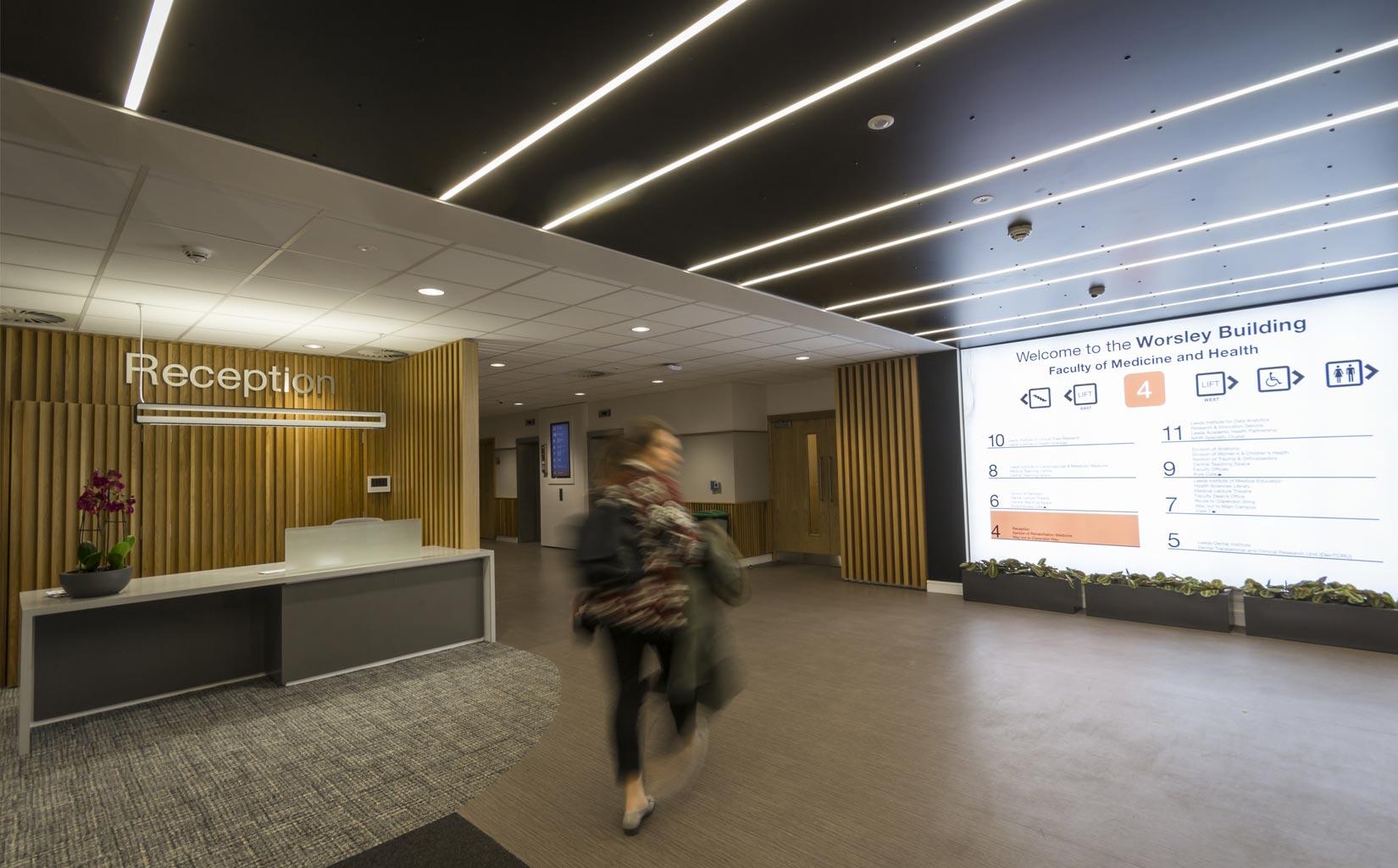 Worsley Building, University of Leeds, Reception Space