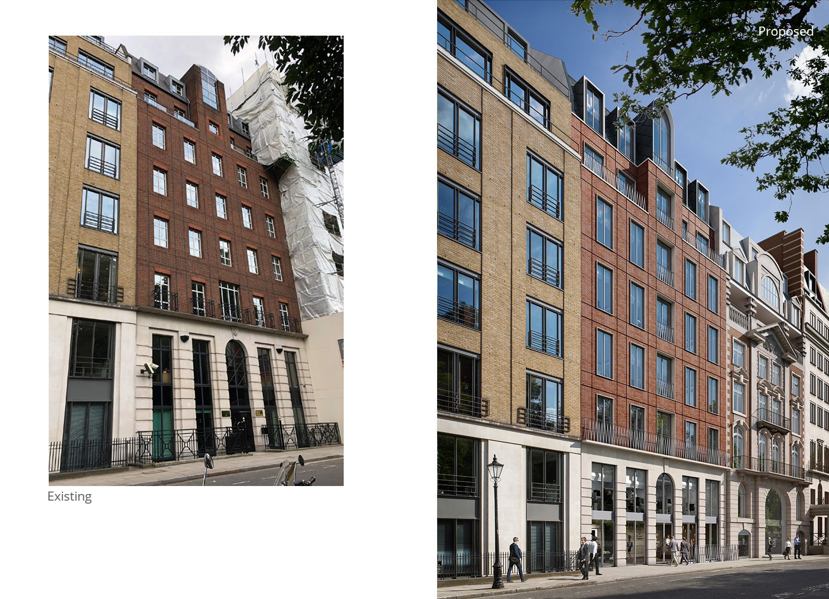 26 St James's Square, London, Existing and proposed