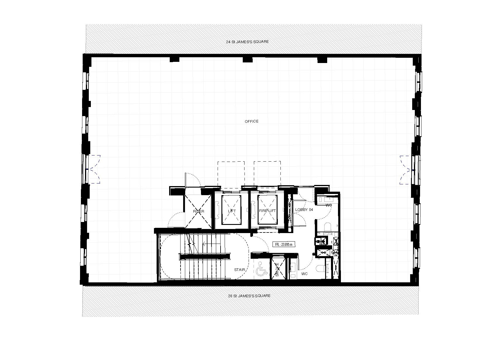 26 St James's Square, London, Typical Floor Plan