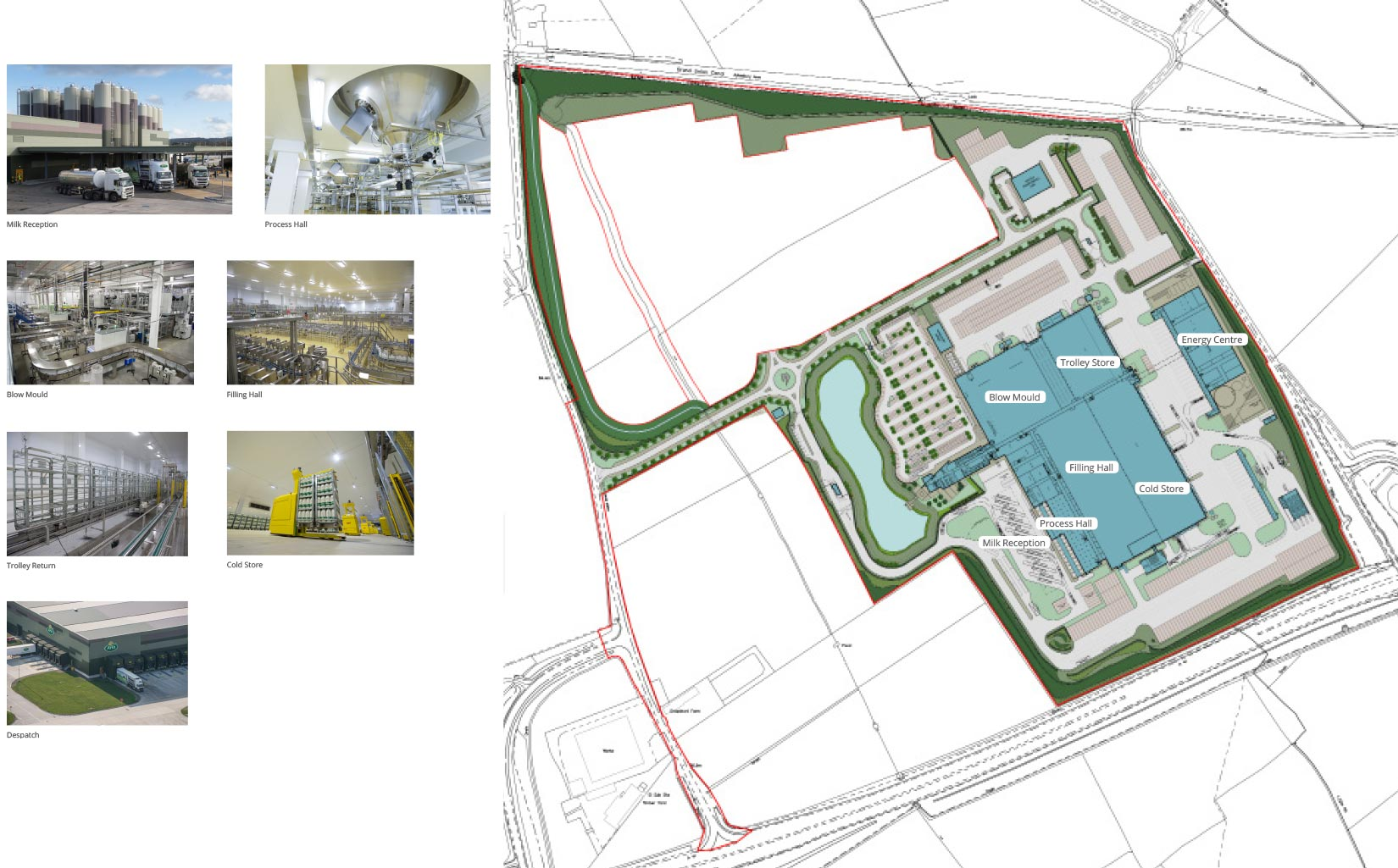 Arla Foods Dairy, Aylesbury, Masterplan and Process